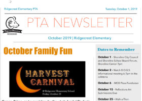 October PTA Newsletter