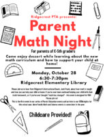 Parent Math Night Oct 28th